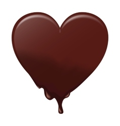 Chocolate heart melts suitable for valentines vector