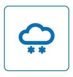Cloud snow icon vector