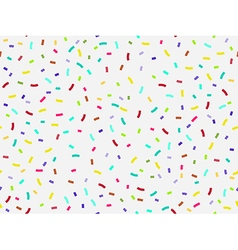 Colorful confetti seamless pattern vector image vector image