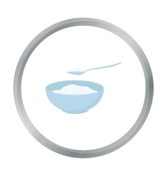Cottage cheese icon cartoon single bio eco vector