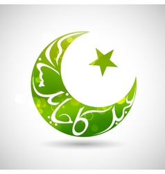 Eid mubarak happy eid background vector