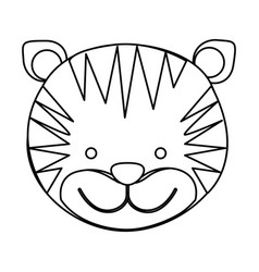 figure face tiger icon vector image