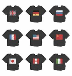 flag t-shirts vector image vector image