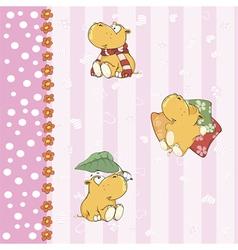 Hippopotamus background vector image vector image