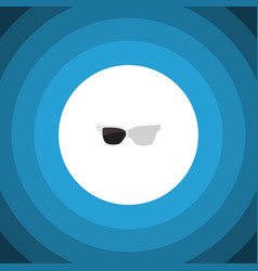 isolated sunglasses flat icon spectacles vector image vector image