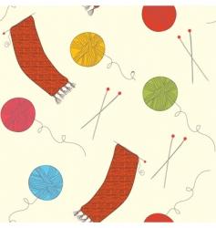 knitting wallpaper vector image vector image