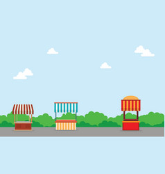 Landscape of street shop background vector
