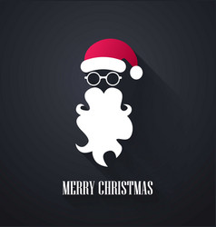 merry christmas background santa claus moustache vector image