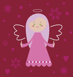 Pink angel vector image