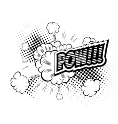 Pow - comic speech bubble cartoon vector