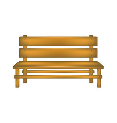 Rural bench in wooden design vector