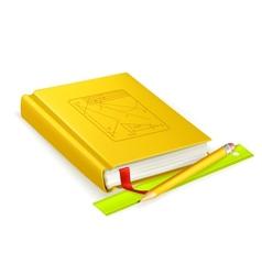 Schoolbook vector image vector image