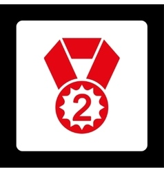 Second place icon from Award Buttons OverColor Set vector image