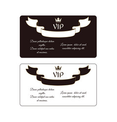 Set of two elegant horizontal discount cards of vector