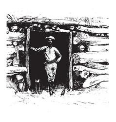 Southwestern pioneer vintage vector