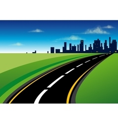 The road to the city vector image