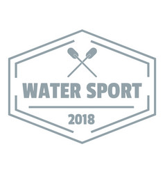 water sport logo simple gray style vector image vector image