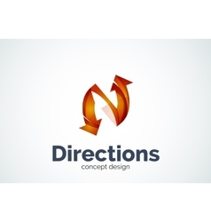 Direction arrows logo vector