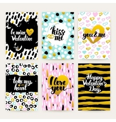 Valentine day trendy hipster posters vector