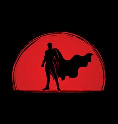 Super hero man standing graphic vector