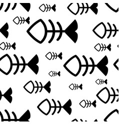 fish seamless background vector image