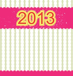 2013 new year banner retro design vector image vector image