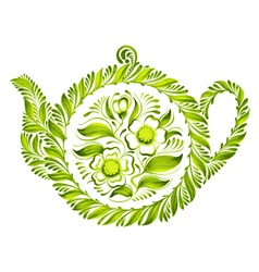 decorative ornament teapot vector image