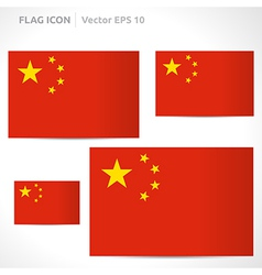 China flag template vector