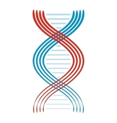 Flat dna and molecule icon vector