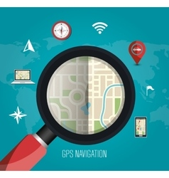 Gps navigation technology vector