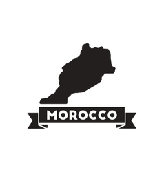 Flat icon in black and white morocco map vector