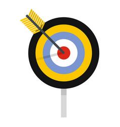 aim icon flat style vector image
