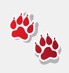Animal tracks sign new year reddish icon vector