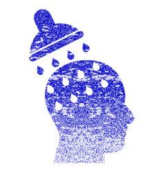 Brain washing grunge textured icon vector