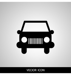 car icon on gray background vector image