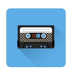 Cassette tape icon vector image vector image
