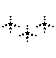 Collection stock style black star background vector