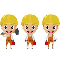 construction worker cartoon character vector image vector image
