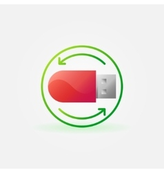 Data recovery icon vector