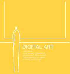 digital art poster in a linear style vector image vector image