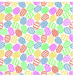 easter eggs colorful seamless pattern vector image vector image