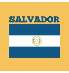 El salvador country flag vector