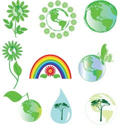 environmental symbols vector image