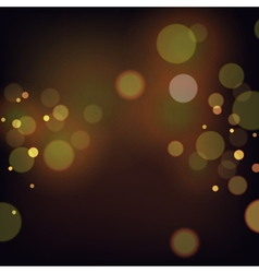 Festive background with bokeh defocused lights vector image