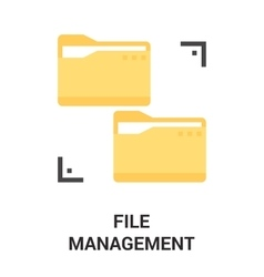 File management icon vector