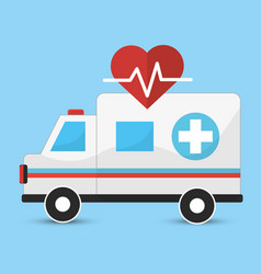 Hospital emergency ambulance icon vector