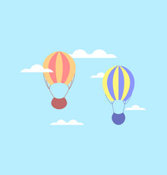 hot air balloon in clouds balloon in the sky vector image