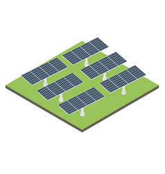 icon isometric solar panel vector image