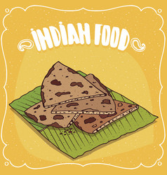 indian flatbread roti or chapati or paratha vector image vector image