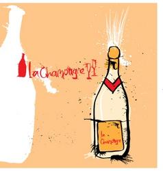 la champange vector image vector image